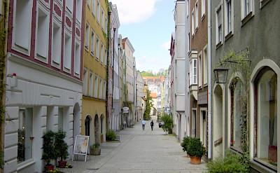 Burghausen, Altötting, in Bavaria, Germany along the Salzach. Flickr:Allie_Caulfield