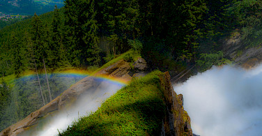 Krimml Waterfall in the Hohe Tauern National Park, Austria. Photo via Flickr:Harry Pammer