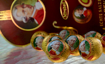 Mozart's chocolate balls are famous in Salzburg, Austria. Flickr:slgckgc