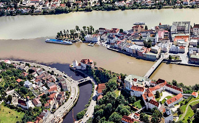 "Passau is ""the 3 river city"" in Germany. Flickr:robroodselaar"