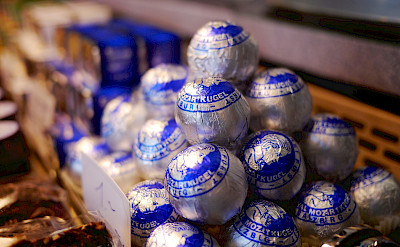 The famous Mozart chocolate balls at Hohensalzburg Castle, Salzburg, Austria. Flickr:Karlis Dambrans