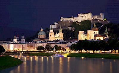 Hohensalzburg Fortress on the Salzach River in Salzburg, Austria. CC:Jiuguang Wang