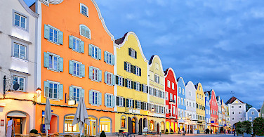 Beautiful Gothic city of Schärding in Upper Austria. Photo via Flickr:Matheus Swanson