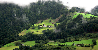Misty morning in St Johann, Austria. Photo via Flickr:Conor Lawless