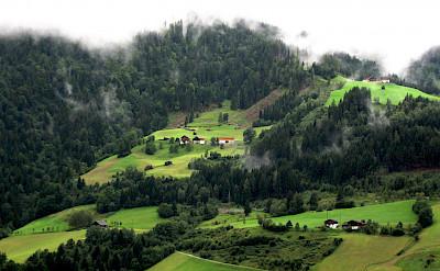 Misty morning in St Johann, Austria. Flickr:Conor Lawless