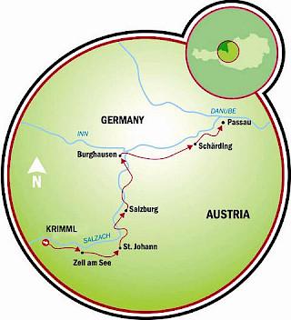 Tour de Bicicleta por Tauern Map