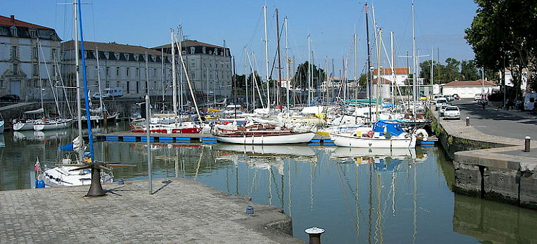 Port of Rochefort - photo via Wikimedia Commons: Remi Jouan