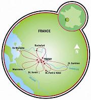 Trizay Map