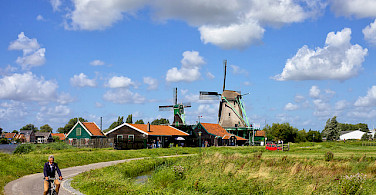Biking around Amsterdam, North Holland. Photo via Flickr:Francesca Cappa