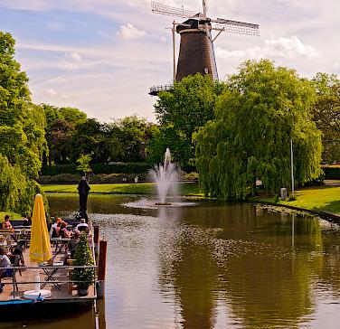 Windmill in Leiden, the Netherlands. Photo via Flickr:Tambako the Jaguar