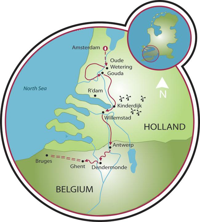 Tulip Tour Bike and Barge Tour - Holland - Belgium | Tripsite