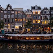 Nighttime in Amsterdam, North Holland, the Netherlands. Flickr:briyyz