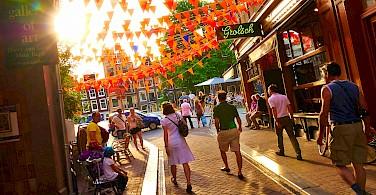 Lovely summertime in Amsterdam, North Holland, the Netherlands. Photo via Flickr:Moyan Brenn