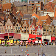 View of Bruges' great facades from the Belfort, West Flanders, Belgium. Flickr:Benjamin Rossen