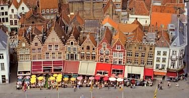 View of Bruges' great facades from the Belfort, West Flanders, Belgium. Photo via Flickr:Benjamin Rossen