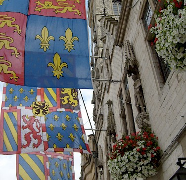 Flags in Dendermonde, East Flanders, Belgium. Photo via Flickr:Taco Witte