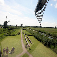 View from a windmill in Kinderdijk, South Holland, the Netherlands. Flickr:bert knot
