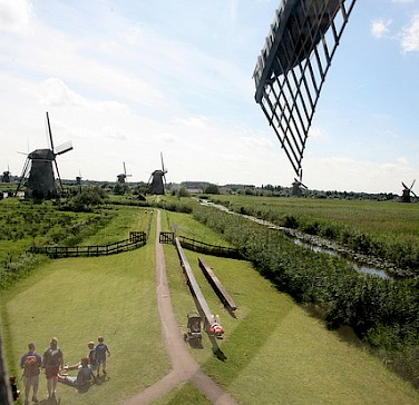 View from a windmill in Kinderdijk, South Holland, the Netherlands. Photo via Flickr:bert knot