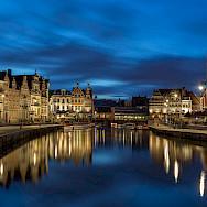 Sint Michielshelling in Ghent, East Flanders, Belgium. Photo via Flickr:jiuguangwang