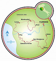 Toscana - Montecatini a Florencia Mapa