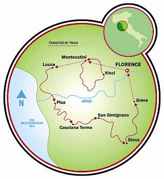 Toscana - Montecatini a Florencia Map