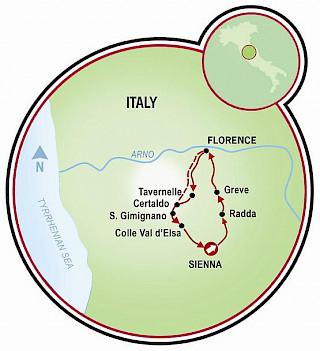 Toscana - Florencia, Siena y Chianti Map