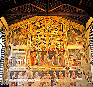 Frescoes in Santa Croce Franciscan Monastery, Florence, Italy. Photo via Flickr:Dennis Jarvis