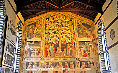 Frescoes in Santa Croce Franciscan Monastery, Florence, Italy. Flickr:Dennis Jarvis