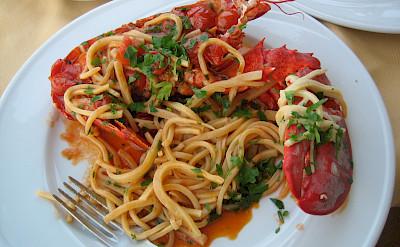 Fresh pasta in Capri, Italy. Flickr:Austin Keys