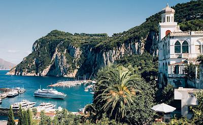 Town of Capri along the Amalfi Coast in Italy.