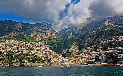 Positano along the Amalfi Coast in Italy. CC:JeCCo