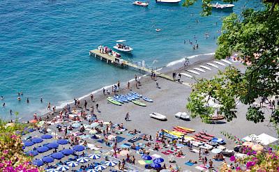 Beach in Positano, province Salerno, Italy. Flickr:Nick Amoscato