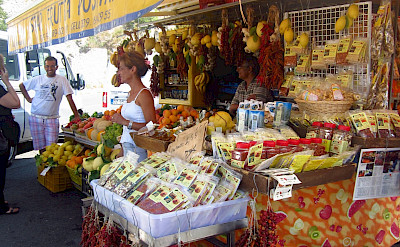 Fruit stand in Positano on the Tyrrhenian Sea. Flickr:Jenny