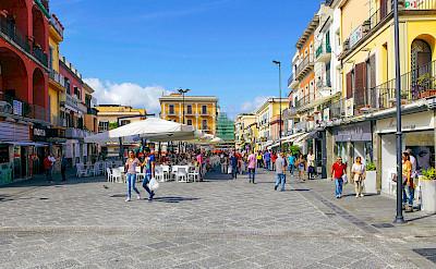Bike rest in Pozzuoli, Amalfi Coast in Italy.
