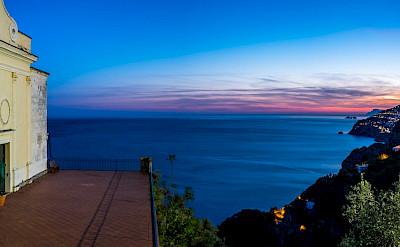 Sunset over Salerno on the Amalfi Coast in Italy. Flickr:Giuseppe Milo