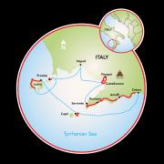 Amalfi Coast - Tyrrhenian Sea Map