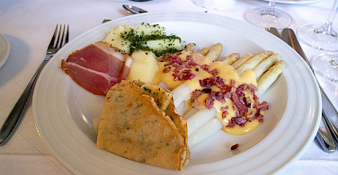 """Spargel"" or white asparagus is a local favorite Photo via Flickr:Jun Seita"