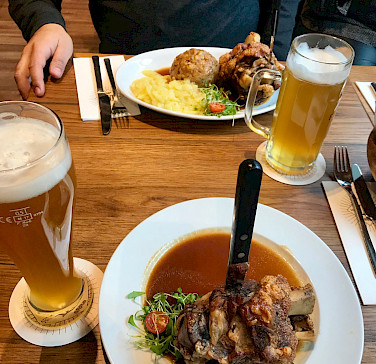 Typical hearty meal in Ulm, Germany. Photo via Flickr:Andrew