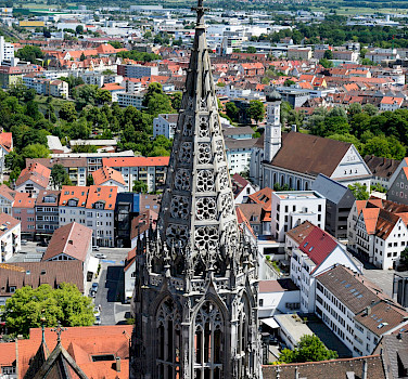 Ulm has the world's tallest church steeple at Ulm Minster, and is also the birthplace of Albert Einstein. Photo via Flickr:Alessandro Caproni