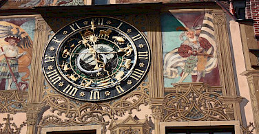 Town Hall clock in Ulm, Germany. Photo via Flickr:Rictor Norton & David Allen