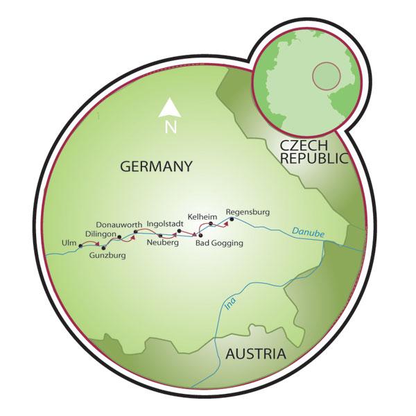 Danube Bike Path Ulm to Passau Bike Tour Germany – Ulm Germany Map