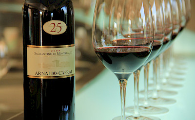 Great local wines, this one in Perugia from Montefalco region grapes. Flickr:Michela Simoncini
