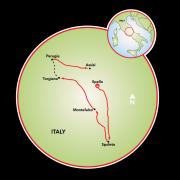 Umbria - Gastronomy Bike Tour Map