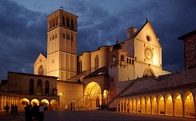 Baslica di San Francesco in Assisi, Umbria, Italy. Photo via Creative Commons:Berthold Werner