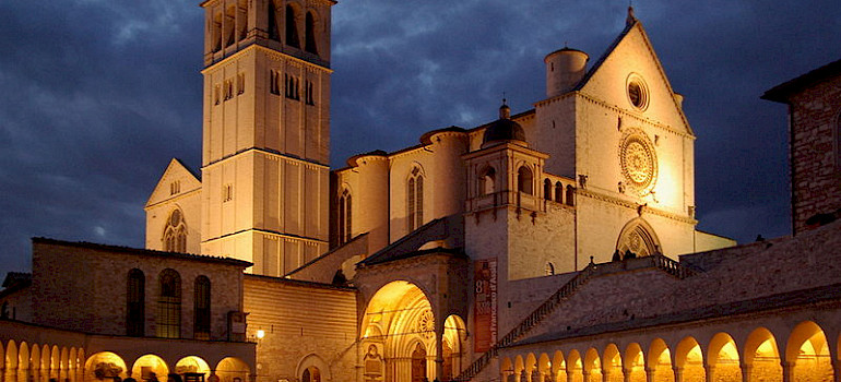 Baslica di San Francesco in Assisi, Umbria, Italy. Photo via Creative Commons:Berthold Werner