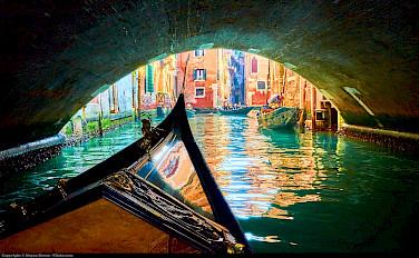 Gondola ride in Venice, Italy. Photo via Flickr:Moyan Brenn