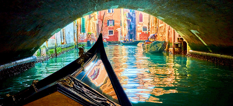 Gondola ride in Venice, Italy. Photo via Flickr:Moyan Brenn