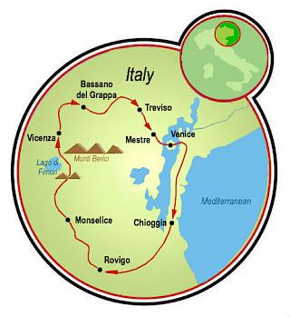 Venetian Highlights Map
