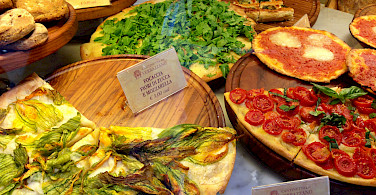 Pizzas in Florence, Tuscany, Italy. Photo via Flickr:Joy