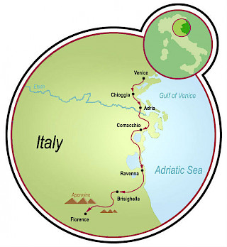 Venice to Florence Map
